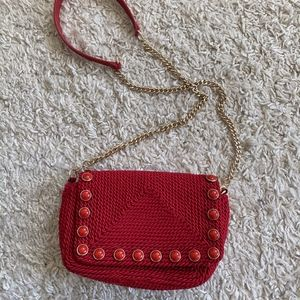 red bag from Zara